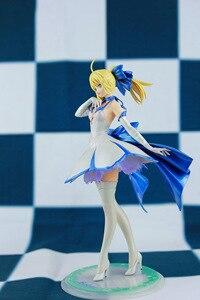 Image 2 - Japońskie Anime figurka los/pobyt noc wielkie zamówienie ALTER noc szabla biała sukienka rysunek PVC 27cm kolekcja modeli doll