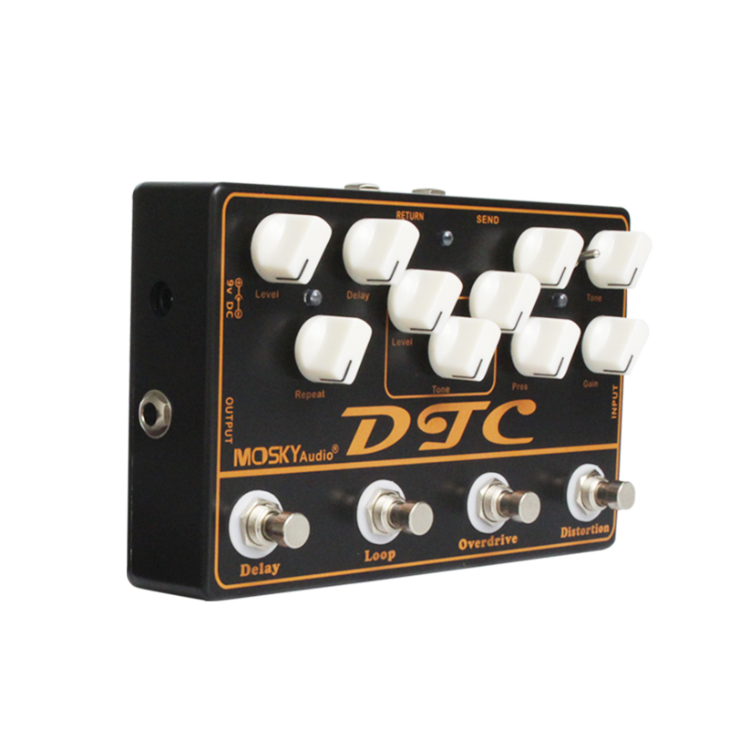 Moskyaudio Distortion, Overdrive ,LOOP, Delay 4 Effects Pedal in 1 Unit Guitar Effect Pedal Multi-Effect Pedal social distortion social distortion independent years 4 lp