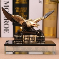 Alloy eagle automobile Hawk car perfume Ornament of creative car except odor Pedestal perfume bottle crafts home decoration