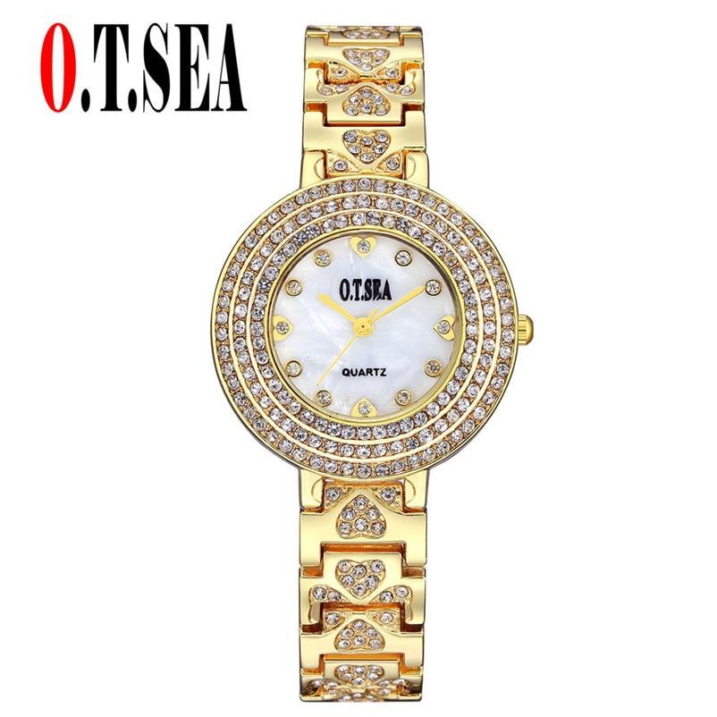 The Best Hottest Selling Clock Fashion Women Alloy Dial Quartz Analog Rhinestone Bracelet Wrist Watch Relogio Feminino #200717 Women's Watches