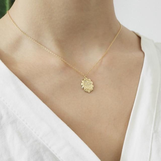 925 sterling silver star moon pendants necklace trendy element design wild neckl