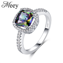 Best-selling New Standard 925 Silver Lady Ring Classic Fashion High-quality Colorful Gemstone Engagement Anniversary Gift Ball