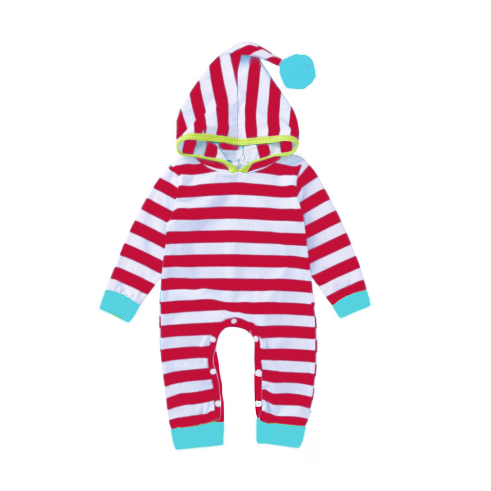 Newborn Baby Boys Girls Striped Hooded Romper Infant Cotton PP Pocket Playsuit Tracksuit Outfit Jumpsuit FJ88 puseky 2017 infant romper baby boys girls jumpsuit newborn bebe clothing hooded toddler baby clothes cute panda romper costumes