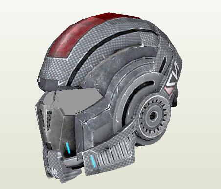 Mass Effect N7 Helmet 1:1 Wearable 3D Paper Model DIY