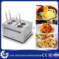 4 baskets commercial induction noodle cooker restaurant equipment gas stove