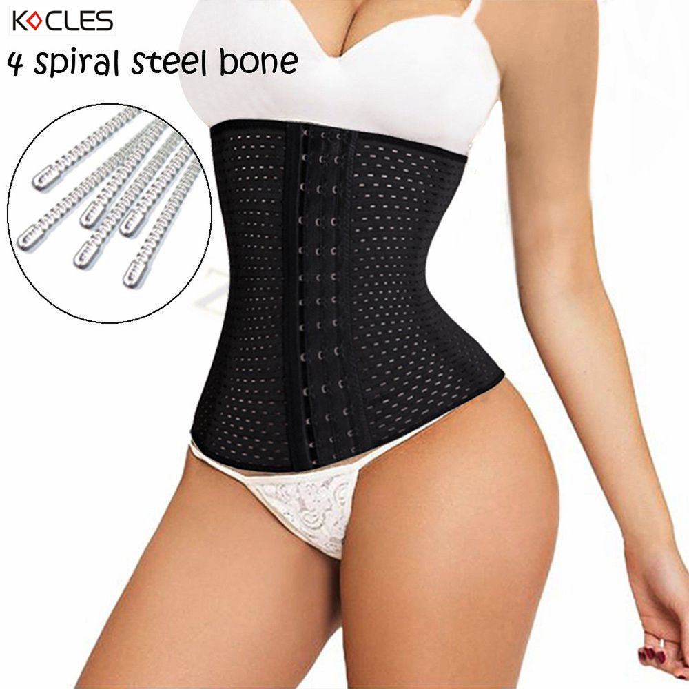 a18b19f47e S-6XL Hot Body Shapers Steel Bones Latex Waist Trainer Women High Waist  Cincher Trainer Corset Underbust Slimming Belt Shaper
