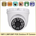 HOSAFE 720P/960P/1080P POE Outdoor Dome IP Camera Waterproof Motion Dection and Email-Alert ONVIF Support + Free Shipping