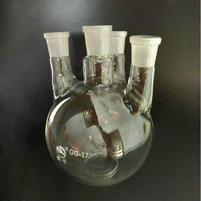 2000ml, Round bottom flask, Four Straight necks, Glass Boiling Flask, 4-necks, Lab flask, Standard ground joint 30000ml 24 3 joint 3 neck round bottom straight necks flask lab glassware
