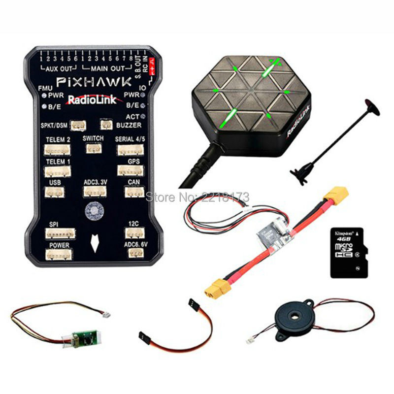 Radiolink PIX 32 Bit Flight Controller & M8N GPS Combo Set for AT9/AT10 Remote Controller OSD DIY RC Multicopter Drone