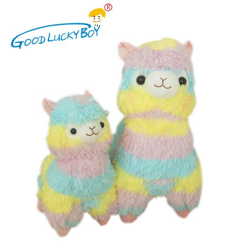Rainbow 1* Alpaca Vicugna Pacos Plush Toy Japanese Soft