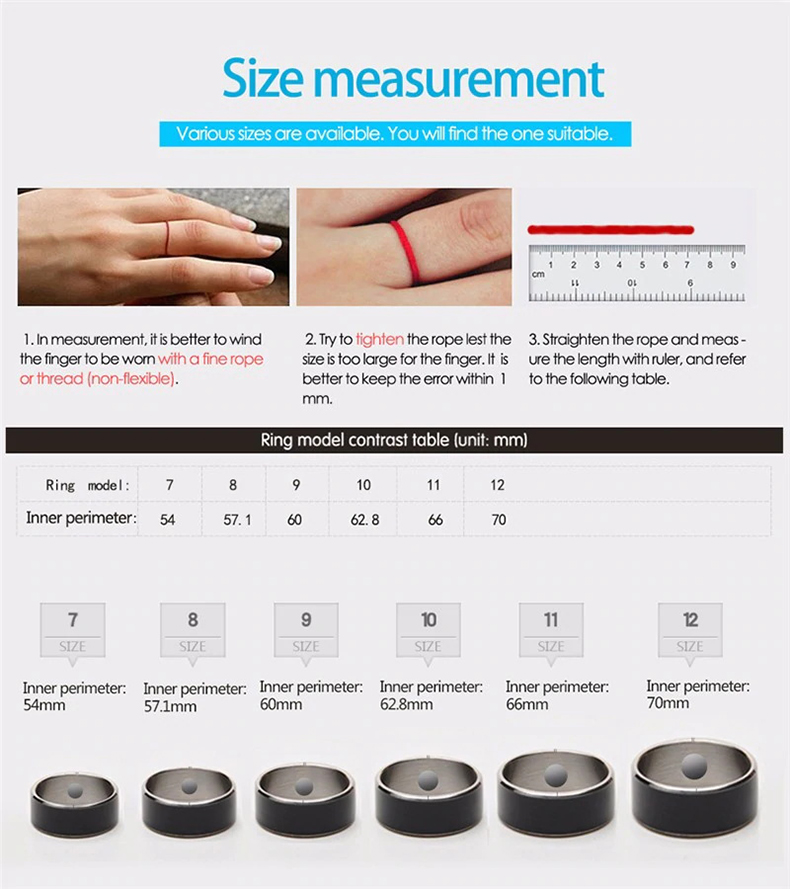 Jakcom R3F Smart Ring Waterproof for High Speed NFC Electronics Phone with aAndroid Small Magic Ring-24