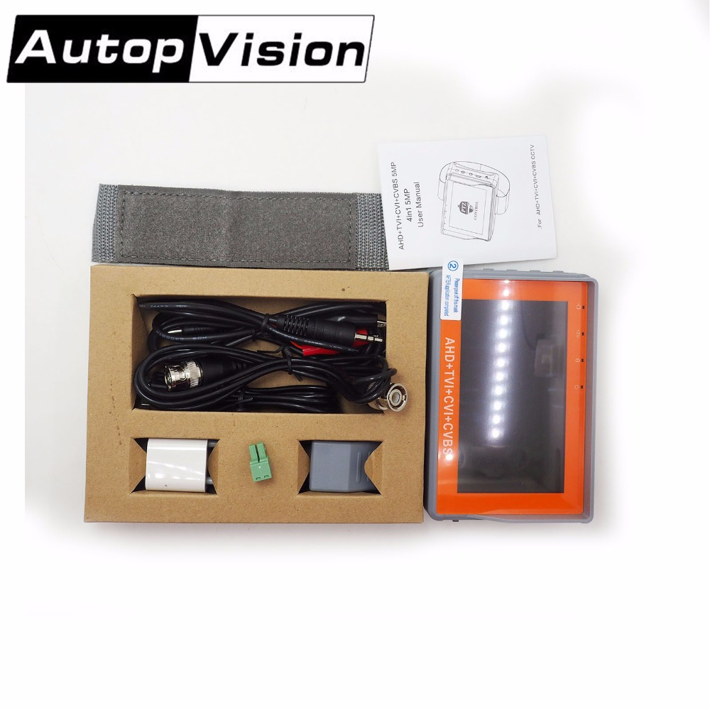 CCTV Security Camera Tester 1080P / 5MP AHD & CVBS & 5MP TVI & 4MP CVI 4-in-1 Analog Video Tester Dorpshpping