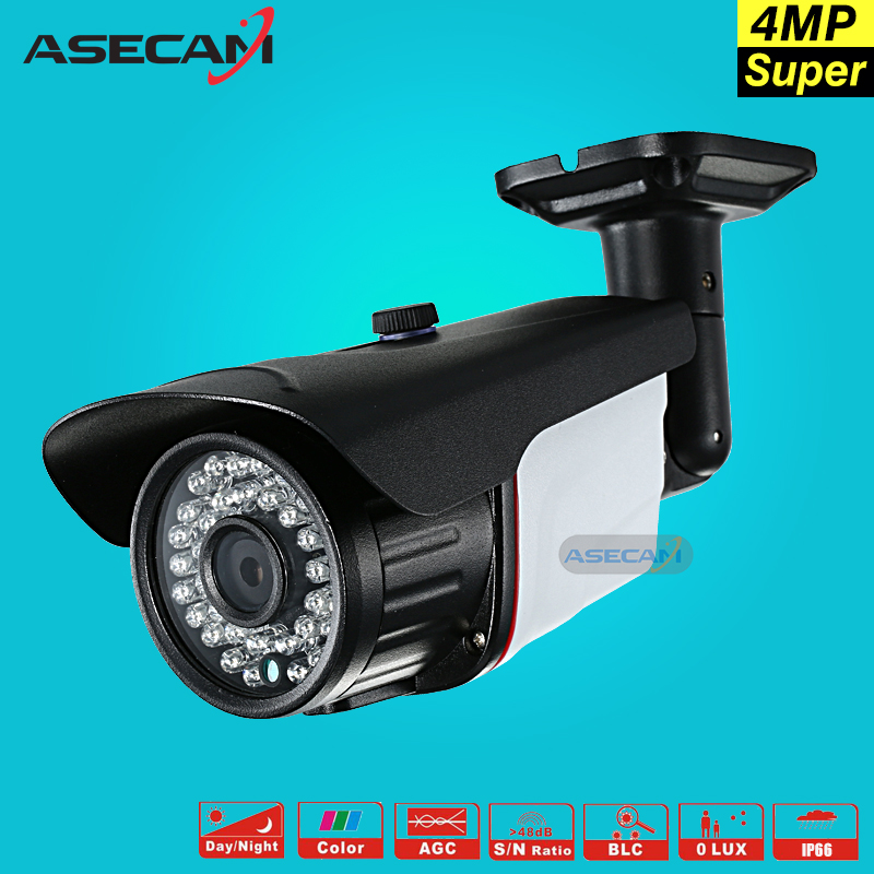 New Super 4MP AHD Camera Security OV4689 CCTV Metal Black Bullet Video Surveillance Outdoor Waterproof 36 infrared Night Vision super 4mp full hd ahd security camera metal bullet outdoor waterproof 4 array infrared surveillance camera ov4689 chip