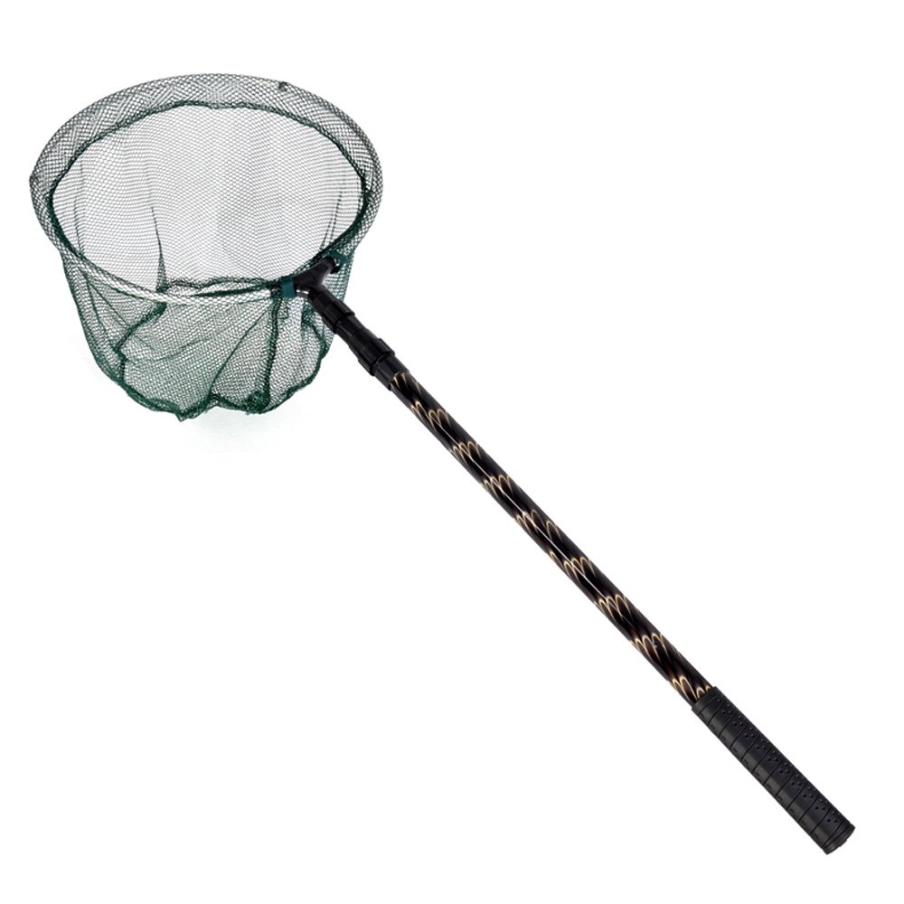 180cm Retractable Telescoping Aluminum Alloy Foldable Fishing Brail Landing Net Pole Tackle