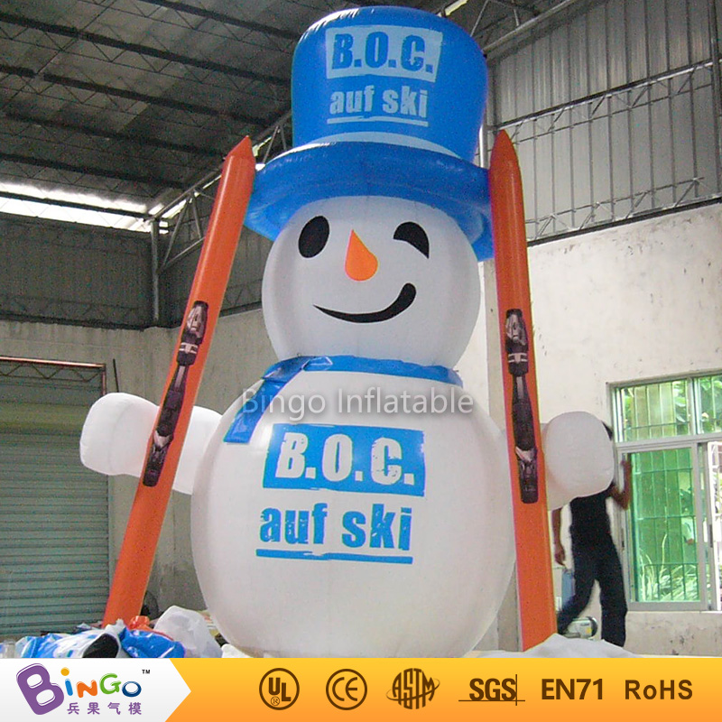 inflatable christmas santa claus cartoon 4m inflatable blue cap snowman for Christmas decoration festival toy free shipping hot sales inflatable christmas santa claus christmas decoration