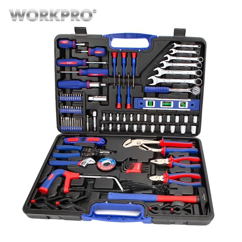WORKPRO 139 stück Home Repair Tool Set Haushalt Werkzeug Kits Schraubendreher-set