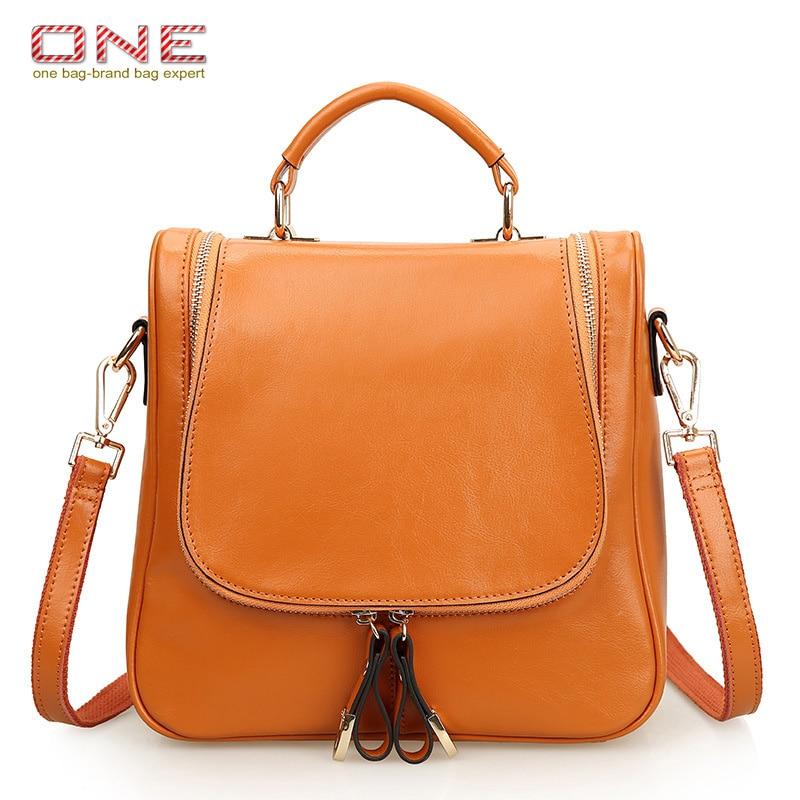 ФОТО 2016 New Summer Women Shoulder Bags Multifunction Genuine Leather Handbags Oil Wax Cowhide Women Bags PT703
