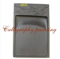 6 Inches Chinese Zhaoqing Duan Yan Ink Stone Carved Birds and flowers Rectangle Inkstone 10552