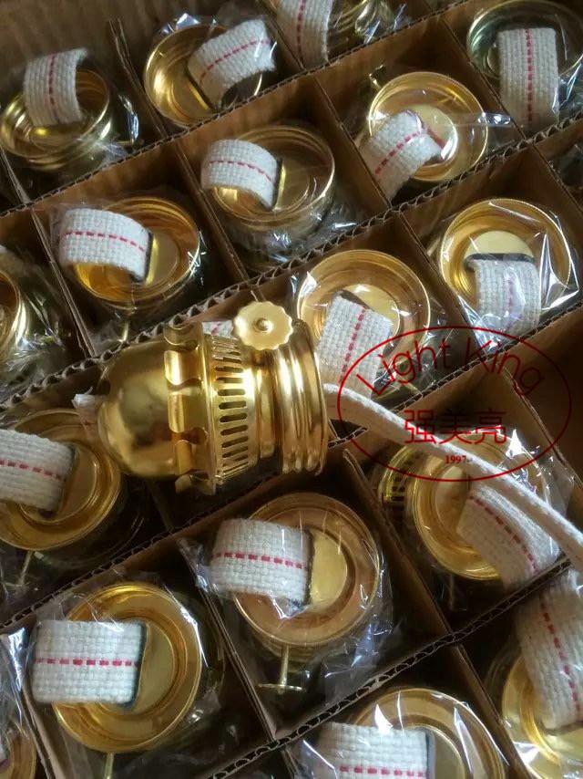 2017 Hot Kerosene Lamp Seal Fitting Close Seal Iron Plating Tyrant Gold With Wick Kerosene Lamp Holder