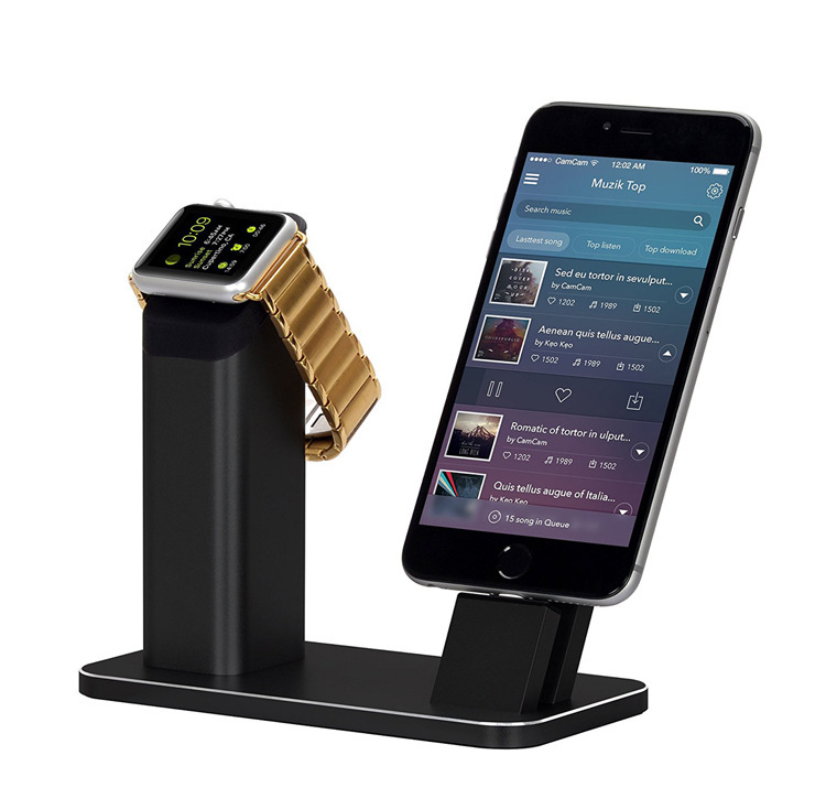Apple Watch Series 3 Stand, Aluminum Charging stand Dock Station-Support Apple Watch NightStand Mode and iPhone 7/7 plus/Stent стоимость