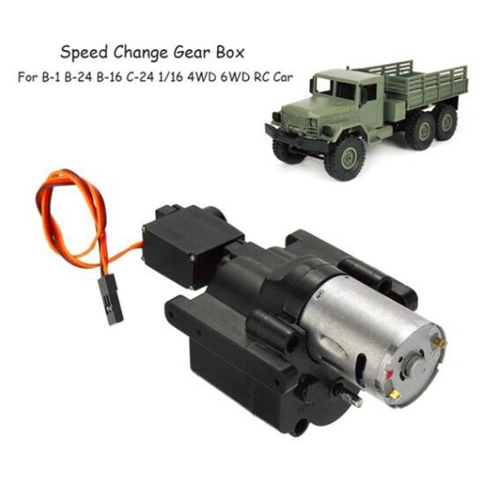 Cambio de velocidad caja de engranajes para WPL B-1 B-24 B-16 C-24 1/16 4WD 6WD coche RC Crawler 10 km/h-30km /h Control remoto partes y accesorios