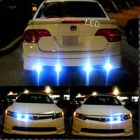 One to Four 4 x 12W Strobe Flash Eagle Eye LED Car DRL Day Time Running Light & Revers Tail Stop Lamp with Wireless Remote