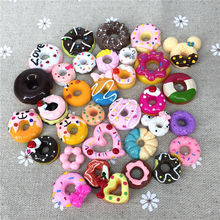 Free shipping!Mixed  Resin kawaii donuts. Resin flatback cabochon for phone decoration,DIY pre order resin toys [t75010] belford free shipping