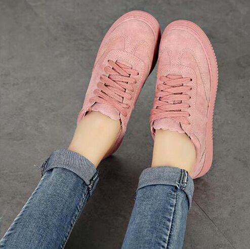 hot 2018 Genuine Leather Women Sneakers Fashion Pink Shoes for Women Lace up White Shoes Creepers Platform Shoes women creepers shoes 2015 summer breathable white gauze hollow platform shoes women fashion sandals x525 50