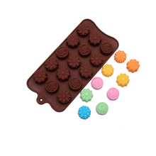 1Pc Flowers Silicone Chocolate Mold For Cake Cookies Non-stick 3D Fondant Candy DIY Molds Kitchen Accessories
