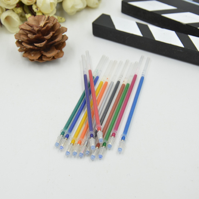 24 36  48 Colors A Set Flash Ballpoint Gel Pen Highlighters Refill Color Full Shinning Refills Painting Ball Point Pen 3
