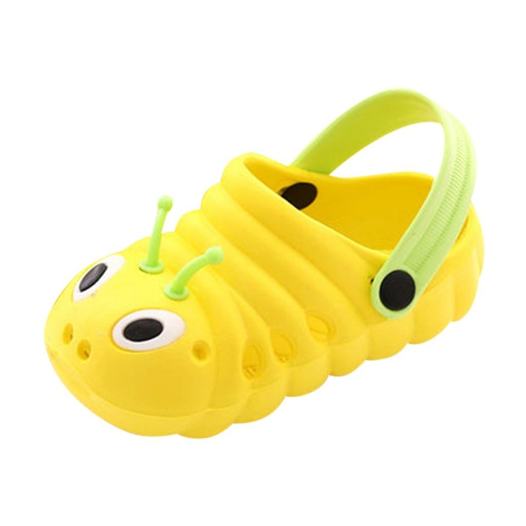 Детские сандалии; детские летние садовые шлепанцы для мальчиков и девочек; Легкие пляжные Нескользящие сандалии с отверстиями для малышей; яркие цвета;# p68 - Цвет: Цвет: желтый