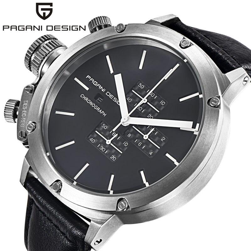 ФОТО Relogio Masculino 2016 Luxury Brand PAGANI DESIGN Quartz-Watch Men Unique Innovative Sport Watches Multifunction Dive Clock Men