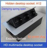 Pop soket/AB fiş Masa soket/gizli/Sönümleme bahar açık Bilgi çıkış/Ofis konferans odası masaüstü soket/A12