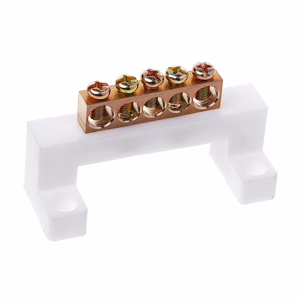 5 Positions Electric Cable Connector Screw Barrier Terminal Strip Block Bar Electrical Equipment