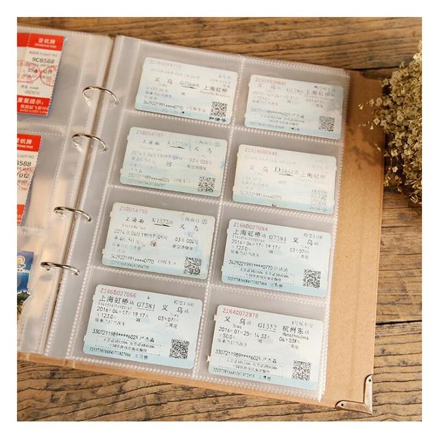Darmowa wysyłka kreatywne luźne liście znaczki pocztowe kolekcja albumów książka pieczęć kolekcja Craft Handmade DIY album papierowy