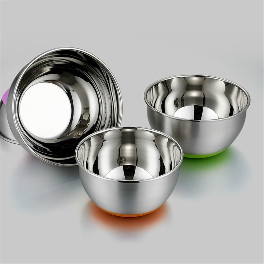 Multifunctional Stainless Steel Mixing Bowls Dough Cake Icecream Mixer Egg Beating Pan