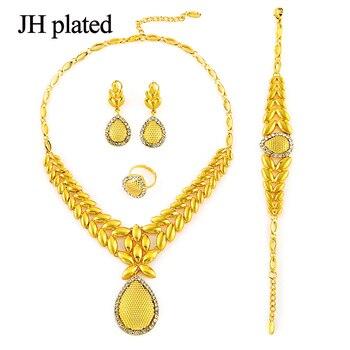 00713380a227 Juego de joyas de monedas de color dorado JHplated pendientes de collar  para mujeres y niñas, el ...