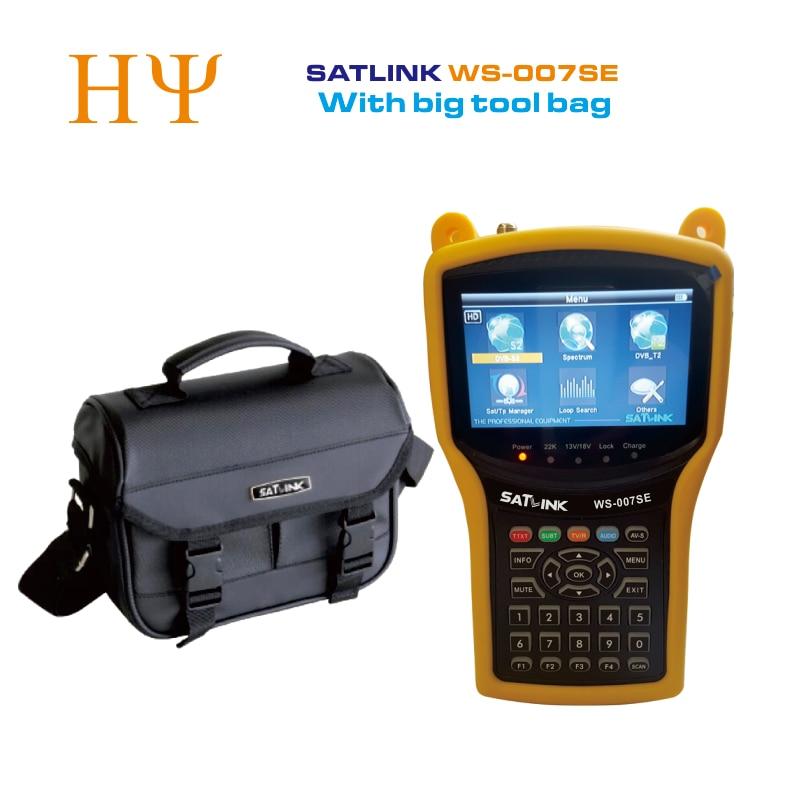 Original Satlink WS 007SE DVB S2 DVB T2 MPEG4 HD COMBO Spectrum Satellite Meter Satellite Finder