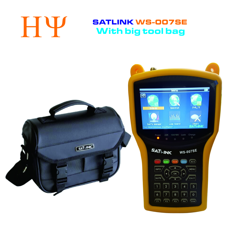 Original Satlink WS-007SE DVB-S2 DVB-T2 MPEG4 HD COMBO Spectrum Satellite Meter Satellite Finder satlink WS007SE meter 1pc original satlink ws 6933 ws6933 dvb s2 fta c ku band digital satellite finder meter free shipping