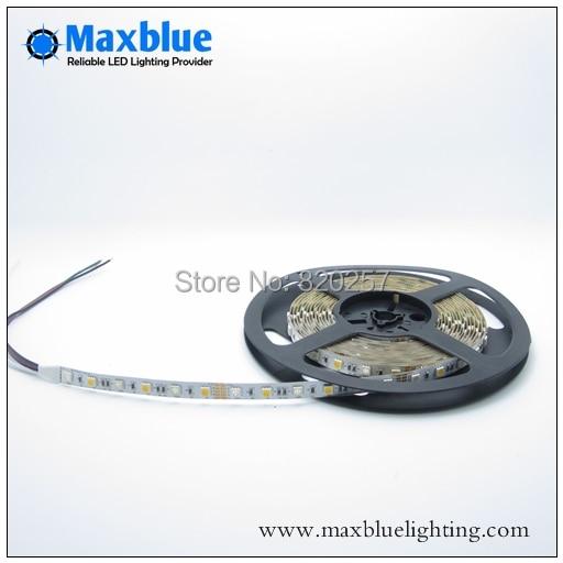 5M DC24V RGBW RGB + жылу ақ 4channel smd 5050 жолағы, 96 - LED Жарықтандыру - фото 3