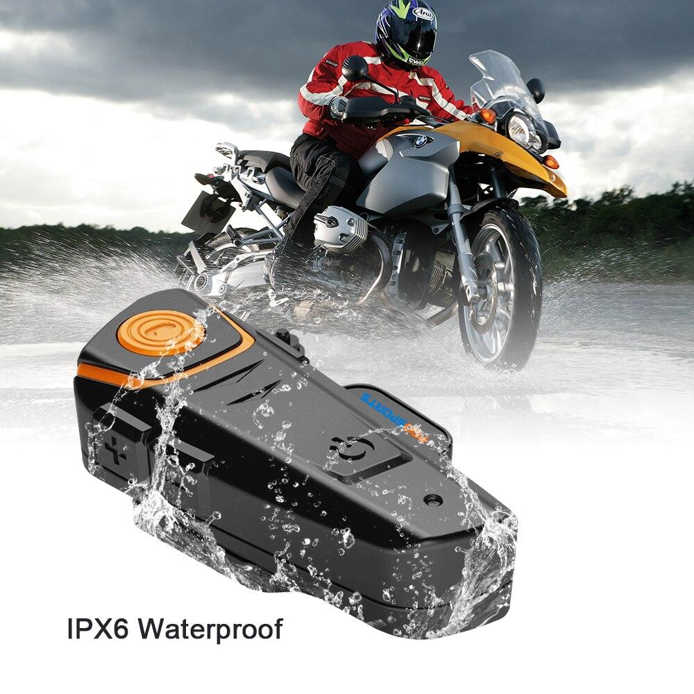Sports nautiques BT-S2 Pro Interphone Moto Casque Casque étanche bluetooth sans FIL BT Interphone FM Radio Stéréo musique - 2