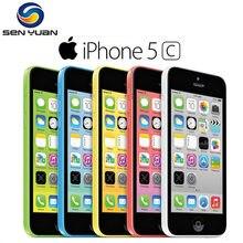 Original 100% apple iphone 5c desbloqueado duplo núcleo celular 8gb/16gb/32gb rom wcdma 3g usado telefone