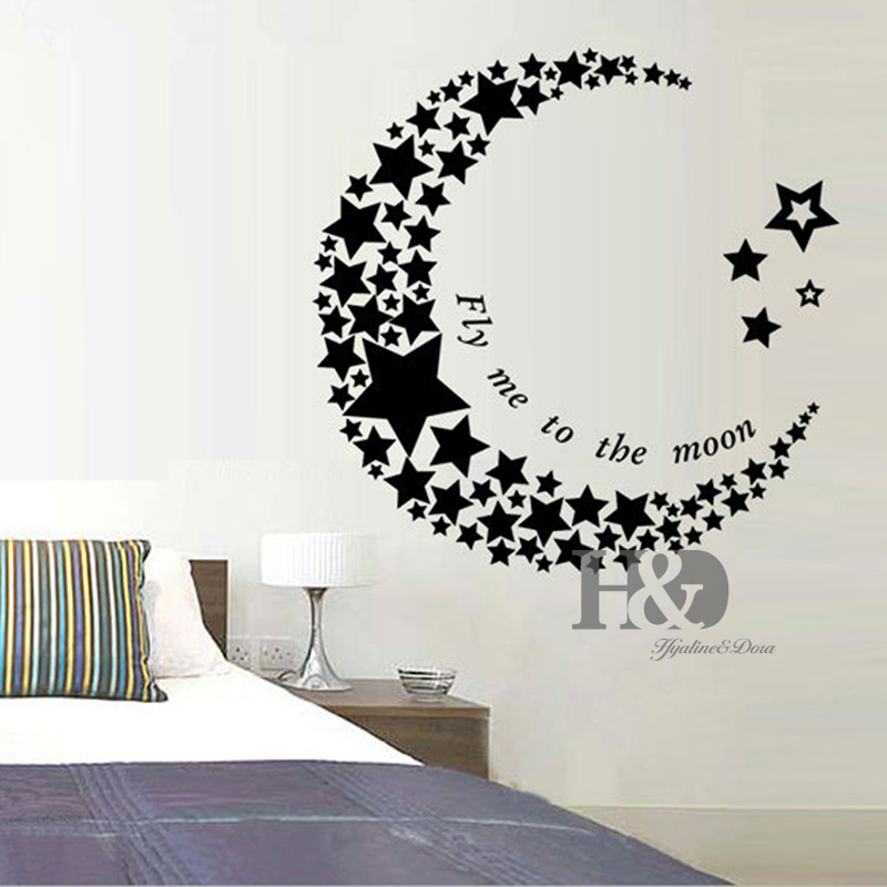 Star wall art beauteous creative new moon star pc wall art for Amazing look with moon and stars wall decals