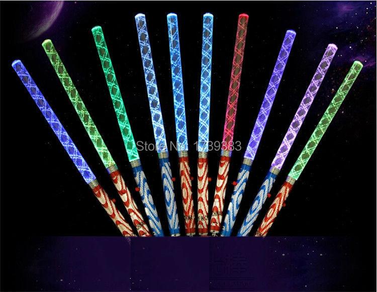 10pcs colorful bar shaking led glow sticks flash wands for Led wands wholesale