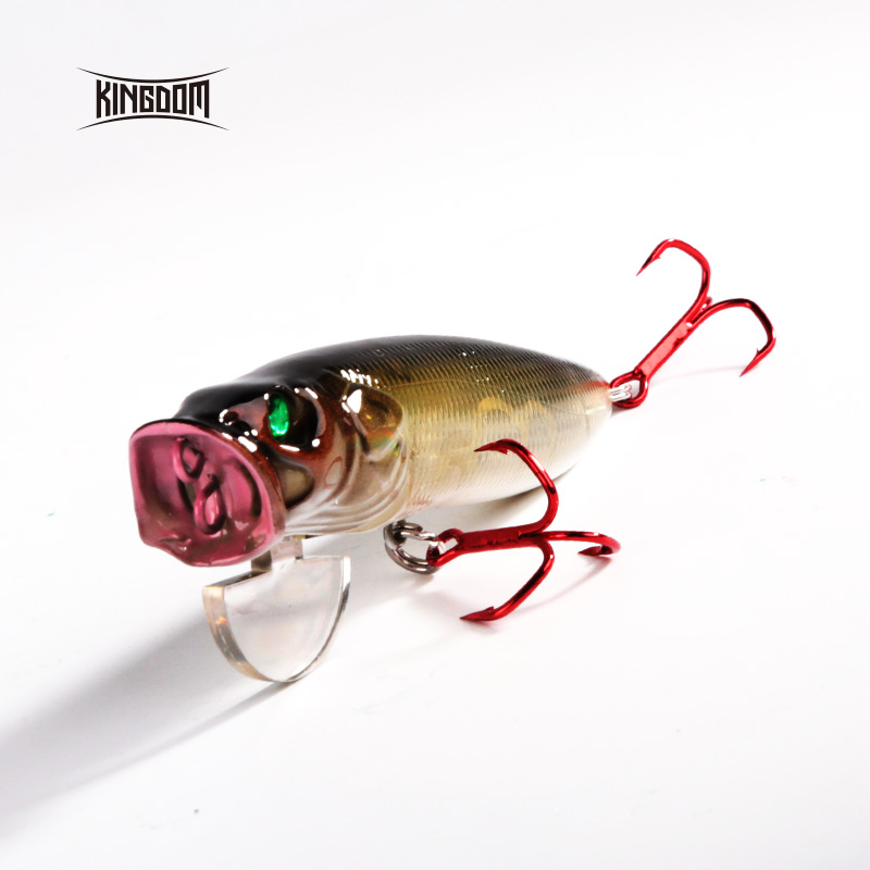 Kingdom Fishing Lures Hard Bait Topwater Popper Switchable Tongue Plate 70mm 9.5g /90mm 16g/ 110mm 33g Artificial Baits 5367
