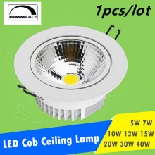 Dimmable LED Downlight  5W 7W 10W 12W 15W 20W 24W Spot DownLight 110V 220V Recessed White house