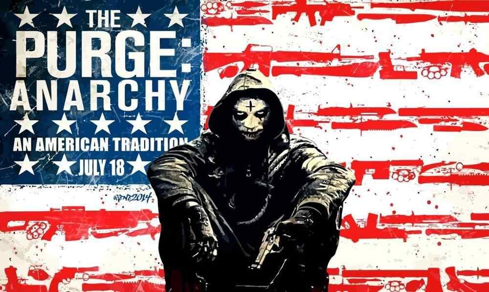 N0175 The Purge Anarchy Kill USA Movie Wall Sticker Silk Fabric ...