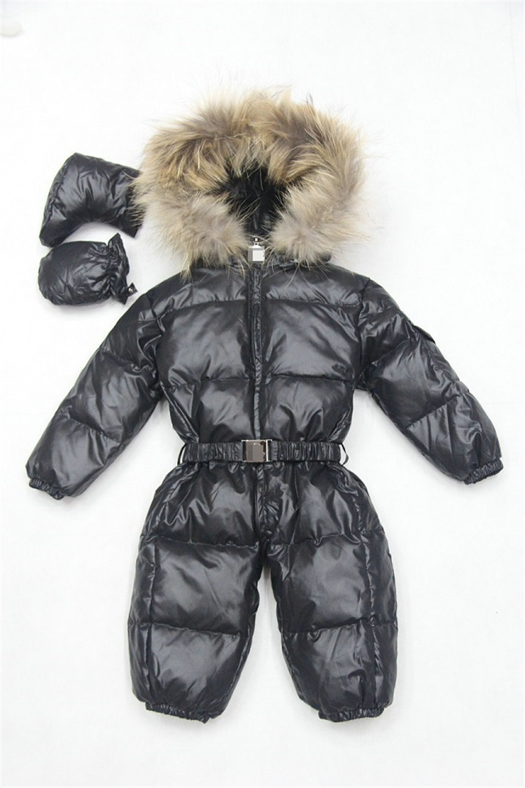 Baby Snowsuit Baby Winter Coat White Duck Down 3-36 Months Waterproof Bright Natural Fur Down Jacket Clothing Baby Girl цена