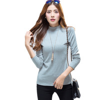 New Autumn Winter Tops Fashion Small Turtleneck Knitted Sweater Women Clothing Brand Oversized Thick Warm Long