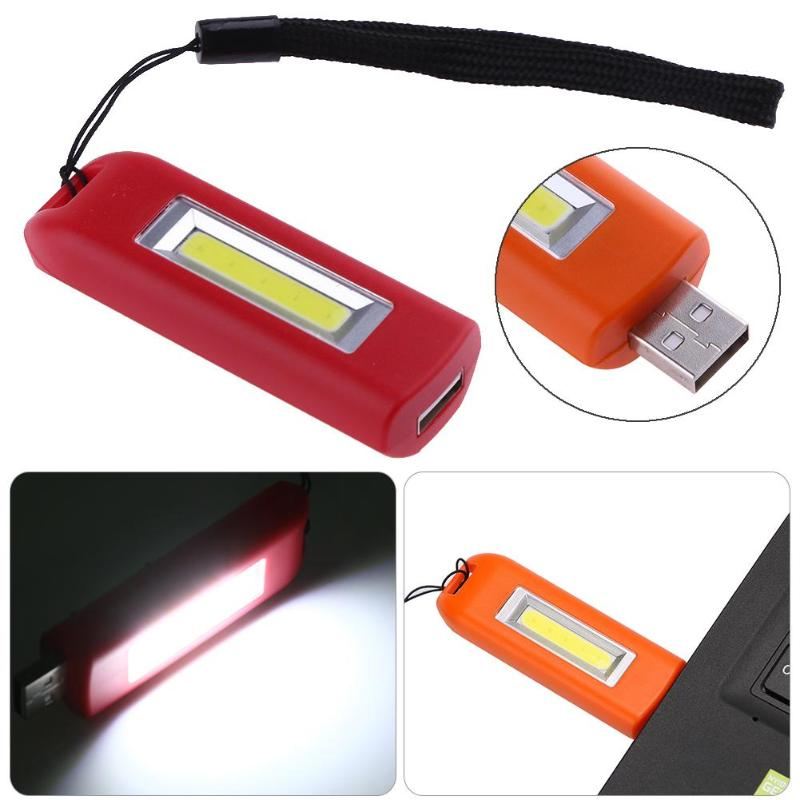 Mini Portable Flashlight USB Rechargeable COB LED Flashlight Emergency Pocket Keychain Clip Backpacking Camping Lamp Mini Torch